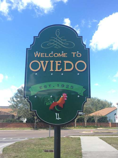 welcome to Oviedo sign